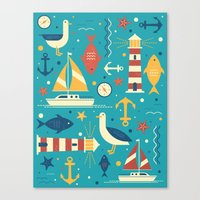 All At Sea Canvas Print