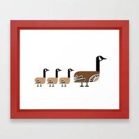 Holly Goose Framed Art Print