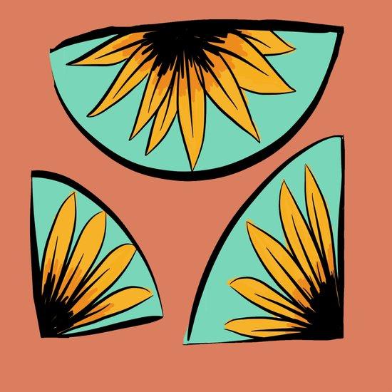 sunflower pieces  Canvas Print