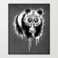 Choked Panda Canvas Print