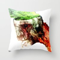 Open Skull Throw Pillow