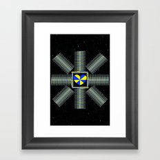 The LOVE Satellite ; its mission: 2 spread the much needed LOVE across the Universe Framed Art Print