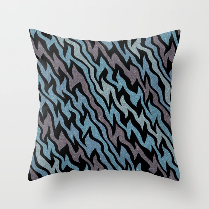 Ice Blue Throw Pillows : Ice Blue Throw Pillow by Alice Gosling Society6