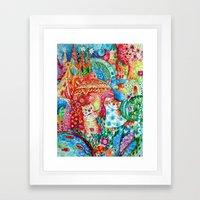 Happy summer Framed Art Print