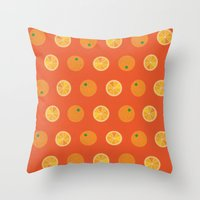 Cute Oranges Picture Pat… Throw Pillow