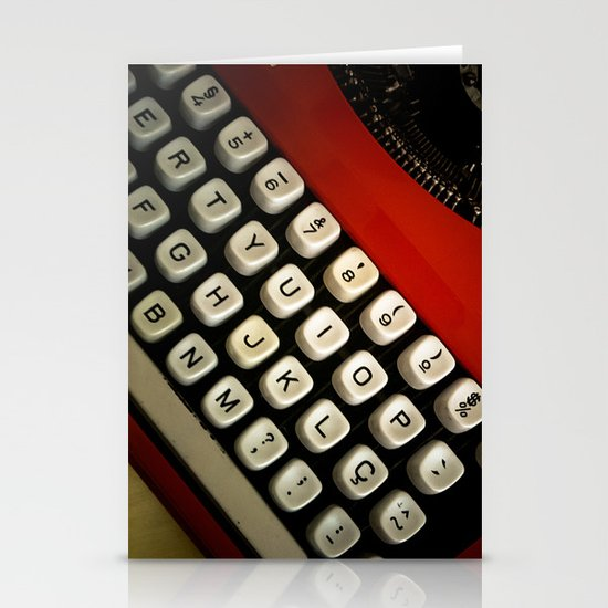 Typewriter Stationery Card