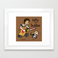 Sally And Bubba Framed Art Print