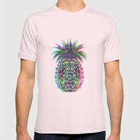 Pineapple CMYK Mens Fitted Tee Light Pink SMALL