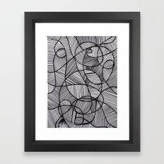 Black & White Abstract Framed Art Print