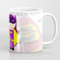 Batgirl Kokeshi Doll Mug