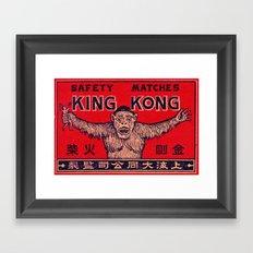 King Kong - Matchbox Framed Art Print