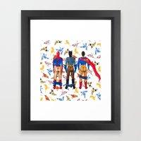 Super Hero BUTTs | It's … Framed Art Print