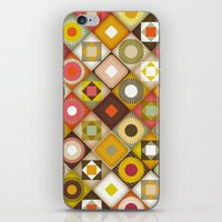 parava retro diagonal iPhone & iPod Skin
