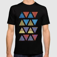 Triangular composition Black SMALL Mens Fitted Tee