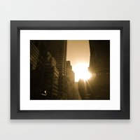 Sundown On Fifth Ave. Framed Art Print
