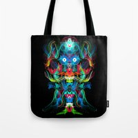 Neon Owl Avatar Tote Bag