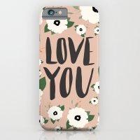 Love You Floral - Tan iPhone 6 Slim Case