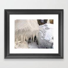 Frozen Stones Framed Art Print