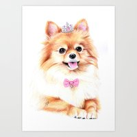 Pomeranian Princess Art Print
