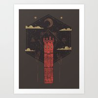 The Crimson Tower Art Print