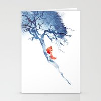 Stationery Card featuring There's no way back by Robert Farkas