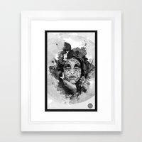 Abstract Portrait Blk/Wht Framed Art Print