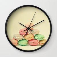 French Macarons Wall Clock