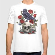 Memento Mori  Mens Fitted Tee White SMALL