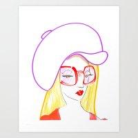 Hip Girl Art Print