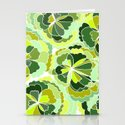 Floral Green Stationery Cards