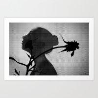 a flower's silhouette  Art Print