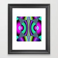 Funky Pattern Circles Framed Art Print