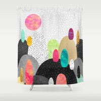 Little Land of Pebbles Shower Curtain