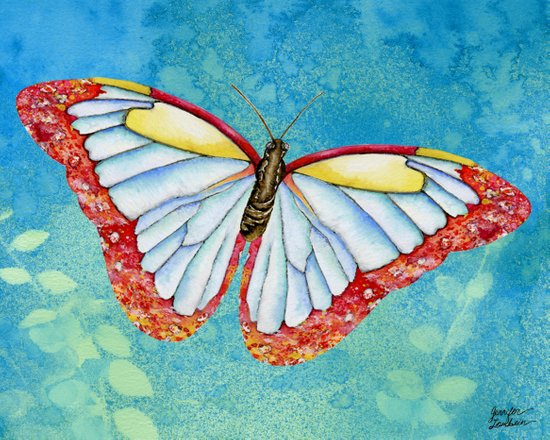 Stained Glass Butterfly Art Print