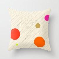 Circles Orange Throw Pillow