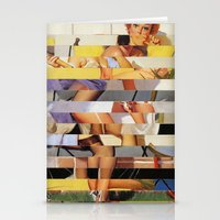 Glitch Pin-Up Redux: Isa… Stationery Cards