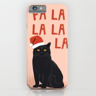 Black Cat Cute Fa La La … iPhone 6 Slim Case
