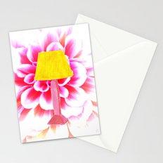 lamp shade flower illustration Stationery Cards