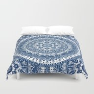 Blue Mandala Pattern Duvet Cover