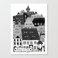 Midnight In Sibiu Canvas Print