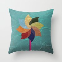 Toy Windmill Throw Pillow