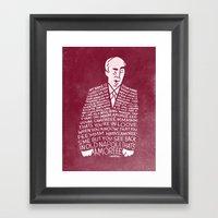 My Name Is John Daker Framed Art Print