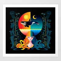 Dream - Sea Day & Night Art Print