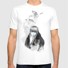 Swan Love SMALL White Mens Fitted Tee