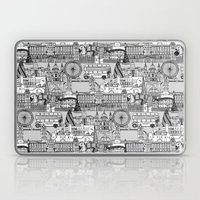 London toile black white Laptop & iPad Skin