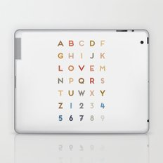 Letter Love - Color Laptop & iPad Skin
