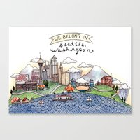 We Belong in Seattle Canvas Print