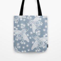 Papercut Bees Tote Bag