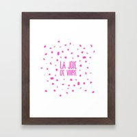 Pink French Typography B… Framed Art Print