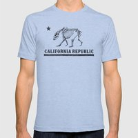California Republic Mens Fitted Tee Athletic Blue SMALL